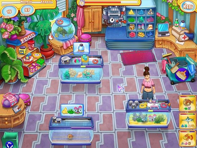 Miss grace games jenny 39 s fish shop game for Fish and more pet store