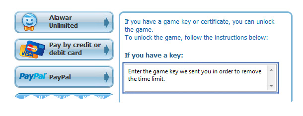 Enter your game key