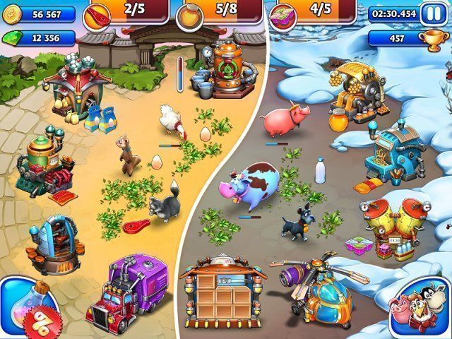 All about Farm Frenzy and Crazy Bear Island  Download the trial